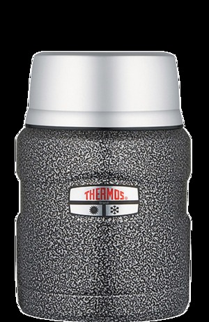 Фото: Термос для пищи Thermos King Food Jar 0,47L - Hammertone Steel