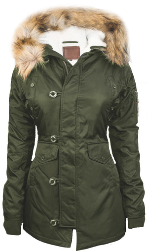 Жіноча аляска Miss Top Gun Fitted Nylon N-3B Parka (оливкова)