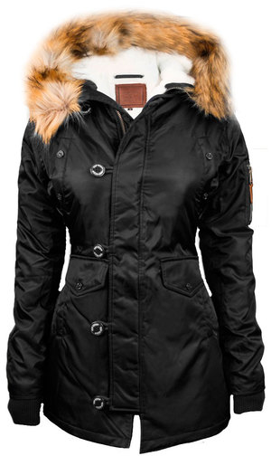 Жіноча аляска Miss Top Gun Fitted Nylon N-3B Parka (чорна)