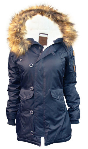 Жіноча аляска Miss Top Gun Fitted Nylon N-3B Parka (синя)